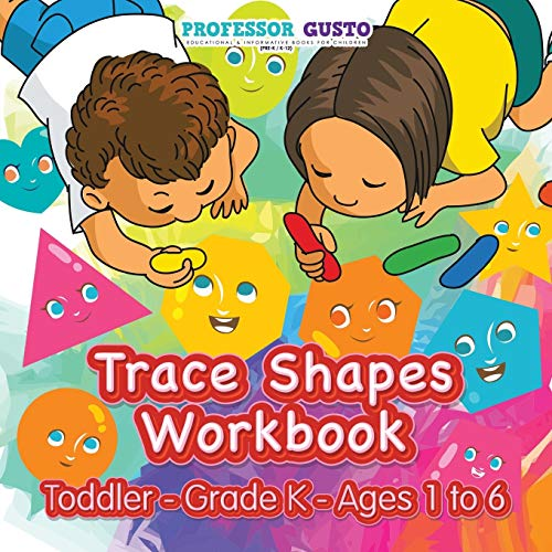 9781683219279: Trace Shapes Workbook | Toddler–Grade K - Ages 1 to 6