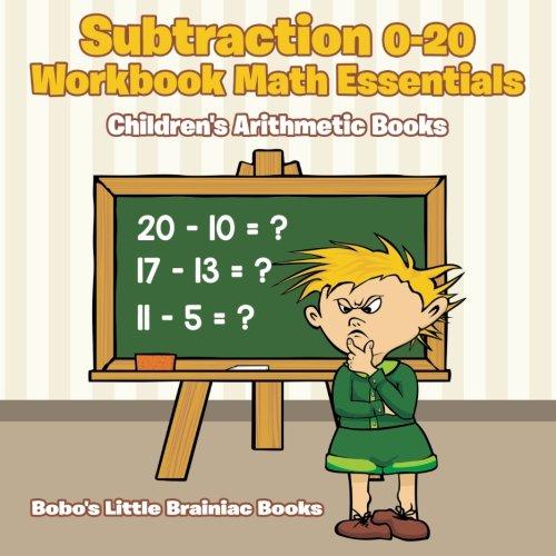 Subtraction 0-20 Workbook Math Essentials   Children's Arithmetic Books: Bobo's Little ...