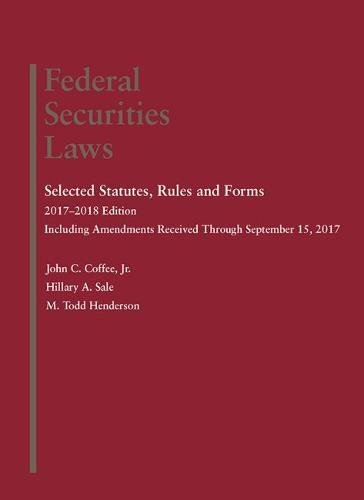 9781683288022: Federal Securities Laws: Selected Statutes, Rules and Forms