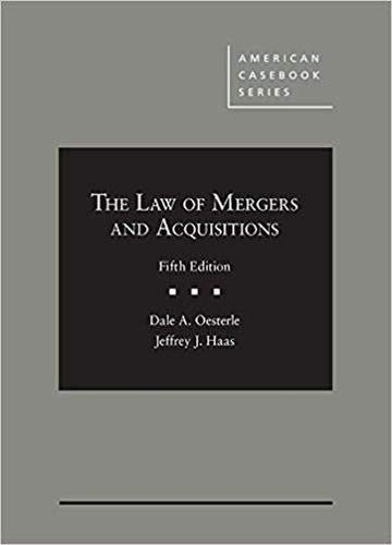 Law of Mergers+acquisitions