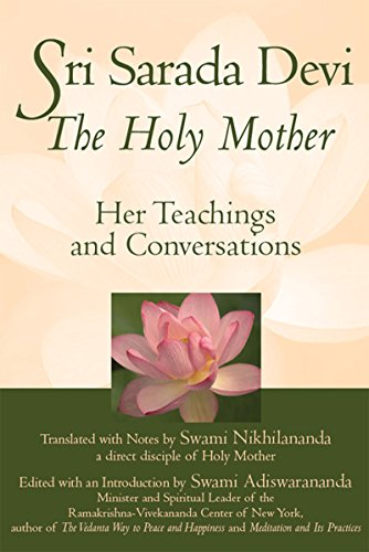 9781683363194: Sri Sarada Devi, The Holy Mother: Her Teachings and Conversations