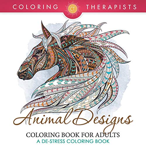 9781683681359: Animal Designs Coloring Book For Adults - A De-Stress Coloring Book