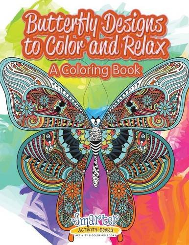 9781683745136: Butterfly Designs to Color and Relax, a Coloring Book