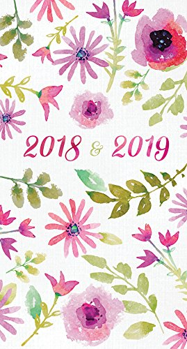 image regarding May Books Planner named 2018-2019 Watercolor Bouquets 2-Yr Pocket