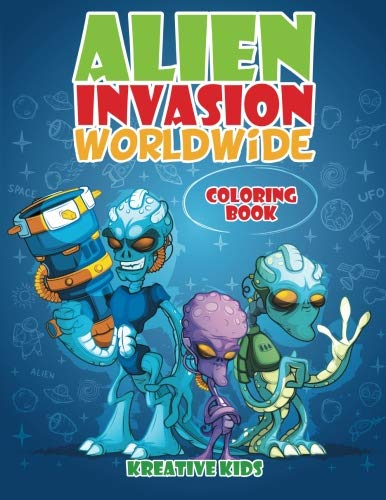 9781683772880: Alien Invasion Worldwide Coloring Book