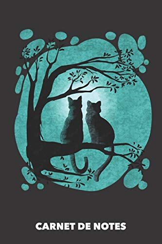 9781686277023: Carnet de Notes: Chats Pleine Lune DIN A5 ligné - 120 pages pour propriétaires de chats