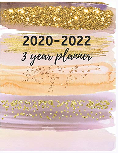 9781690659310: 3 Year Planner 2020-2022: Hand Painted Brush 3 Year Planner   2020-2022 3 Year Monthly Planner 8.5 x 11   Planners   Planner 2020-2022   Planner ... Planner and Organizer, Planner Calendar.