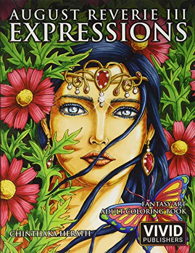 9781690910008: August Reverie 3: Expressions - Fantasy Art Adult Coloring Book