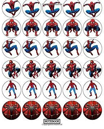 9781691991174: Notebook: Notebook Amazing Spiderman Peter Parker Comic Cute Drawing Photo Art Soft Glossy Wide Ruled Fantastic with Ruled Lined Paper for Taking ... Students School Kids Spiderman Lovers