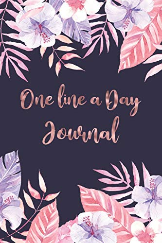 9781696229791: One Line A Day Journal: Pretty Flowers One Line A Day Journal To Write In, Five-Year Memory Book, Diary For Girls And Teens, Notebook, Lined Blank Pages (Tropical Theme)