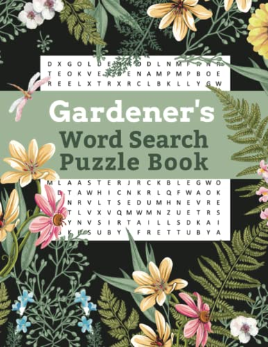 9781697554625: Gardener's Word Search Puzzle Book: Large Print Plant and Garden Puzzles for Hours of Brain Puzzling Fun