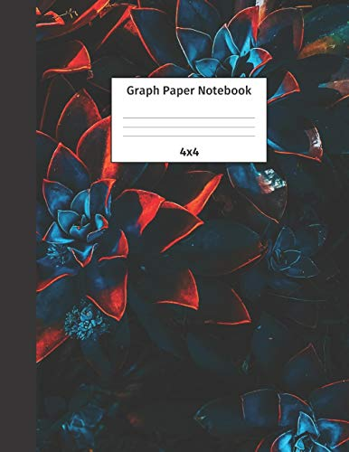 9781699173060: Graph Paper Notebook 4x4: Quad Ruled 4 Squares Per Inch Grid Paper. Math and Science Composition Notebook for Students and Teachers. Perfect for Sums, Graphing, Coordinates and Grids.