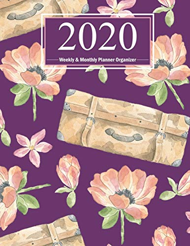 9781700317636: 2020 Weekly Planner & Monthly Organizer: Large Watercolor Vintage Calendar in Purple (8.5x11) With Two Page Monthly View & Weekly Sheets with To-Do ... & Gratitude Pages (Cute Planners for Women)