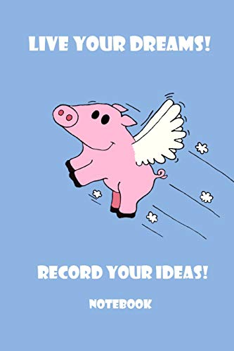 Notebook - Live Your Dreams! Record Your: Matal Design