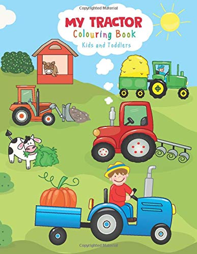 9781706725985: My tractor Colouring Book: kids and Toddlers