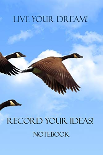 Live your Dreams! Record your Ideas!: Notebook: Matal Design