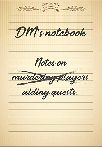 9781709945359: DM's notebook: Mixed Role Playing Gamer Paper (College Ruled, Graph, Hex): RPG Journal Quest Book