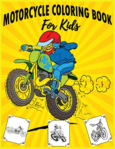 9781710808674: Motorcycle Coloring Book For Kids: Dirt Bike,Heavy Racing Motorbikes, Classic Retro & Sports Motorcycles to Color – For kids
