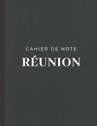 9781712080870: Cahier de note Réunion: cahier de 110 pages format 8,5x11 pouces