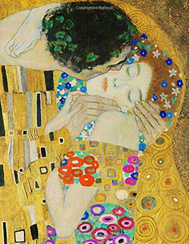 "9781712653968: Klimt LARGE Notebook #10: Cool Artist Gifts - The Kiss Der Kuss Gustav Klimt Notebook College Ruled to write in 8.5x11"" LARGE 100 Lined Pages"