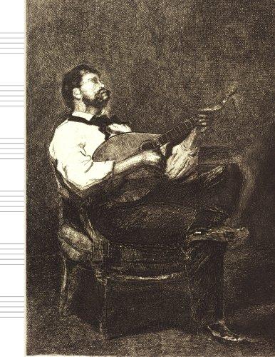 Music: Mandolin Man Antique Sketch Design Cover: Kmc Notebooks and