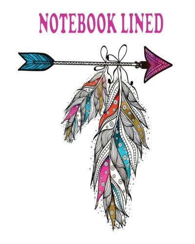 Notebook: Boho Style Ornamental Feathers Hanging on: T, Lookbird