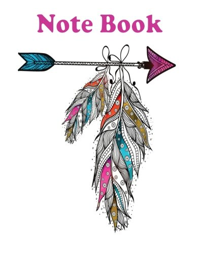 Notebook: Boho style ornamental feathers hanging on: T., Lookbird