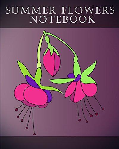 Summer Flowers Notebook: 30 Summer Flower Notebook: Crystal Coloring Books