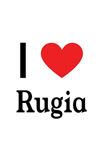 I Love Rugia: Rugia Designer Notebook: Papers, Perfect