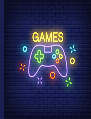 9781718179653: Wide Ruled Composition Notebook Video Game Journal 4 (Cool For School Video Game Notebooks)
