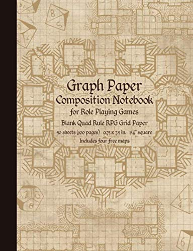 9781719846615: Graph Paper Composition Notebook for Role Playing Games: Blank Quad Rule RPG Grid Paper