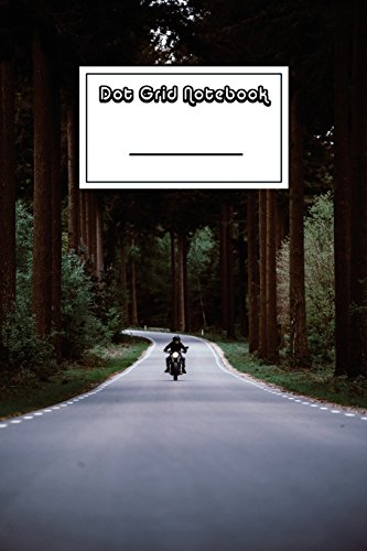 Dot Grid Notebook: Easy Rider on Forest: Notebooks, Shy Panda