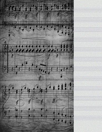 Blank Staff Paper: Antique Song Music Journal: Music, Be Inspired