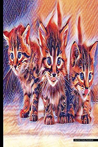 Journal Diary Notebook: Psychedelic Art, Cat Lover: P2g Publishing