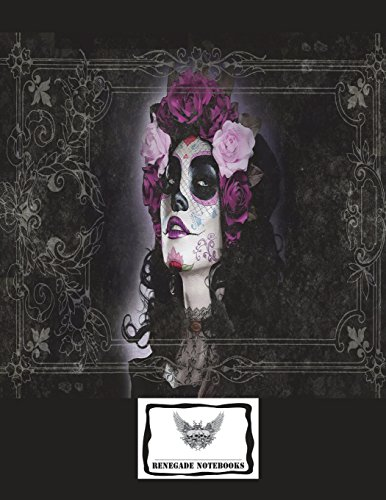 """9781721818815: Cornell Note Graph Paper Notebook Cornell Note Taking System 8.5x11"""" 150 Pages: Framed Sugar Skull Girl Cover Design"""