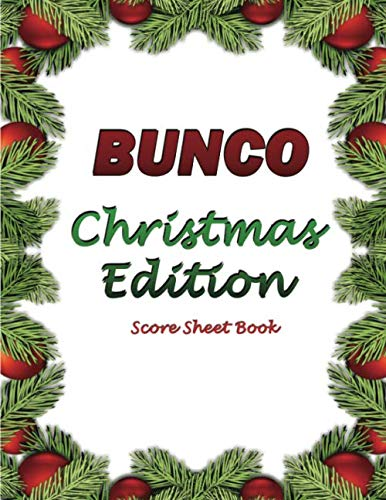 Bunco Scorebook: Christmas Edition Blank form score: Comic Book Blanks