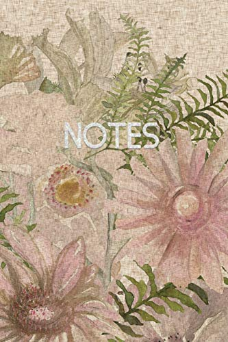 Notes: Floral Ruled Notebook Journal - 120: Notebook Journals, Pretty