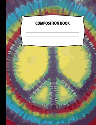 Composition Book: Tie Dye Notebook Wide Ruled: Tiedyel Books