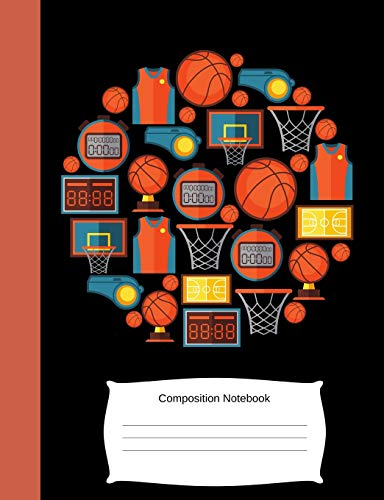 Composition Notebook: Kids/Children Basketball Lover/Fan/Player Blank Exercise: Notebooks, ColorPop