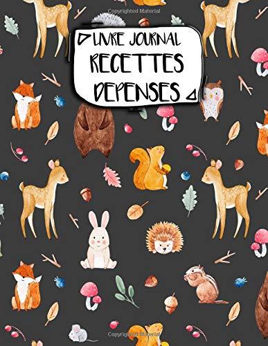 9781726050081: Livre Journal Recettes Dépenses: A4 -106 pages - Animaux- Rigolos - Motis - Panda - Chien - couverture souple glossy - AutoEntrepreneur - Budget - micro BIC - micro BNC