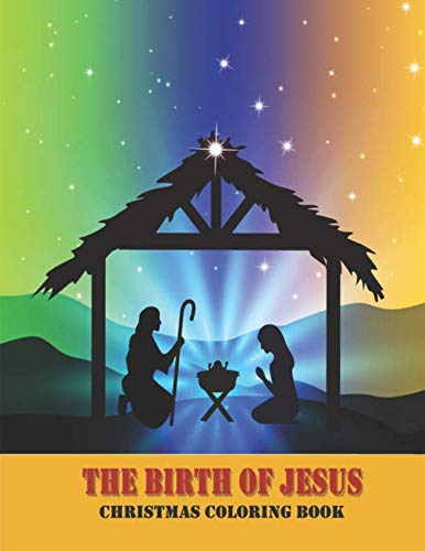 9781729221754: The Birth of Jesus: Christmas Coloring Book