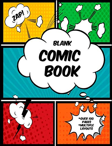 """9781731594303: Zap!: (8.5"""" X 11"""") Blank Comic Book for Kids/ Create Your Own Comic Book, Anime, Manga, Notebook Journal Sketchbook Composition Book (Blank Comics)"""