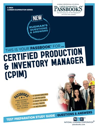 Certified Production & Inventory Manager (CPIM): National Learning Corporation,
