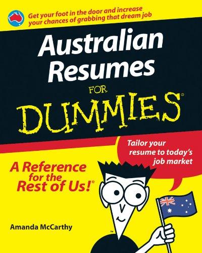 9781740310918: Australian Resumes For Dummies