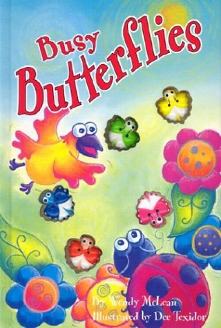 9781740473606: Busy Butterflies (Interactive Button Board Books)