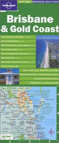 9781740594349: Lonely Planet Brisbane and Gold Coast City Map (LONELY PLANET CITY MAPS)