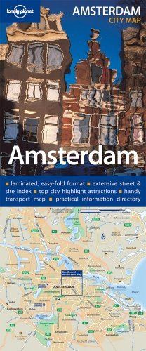 9781740596381: Lonely Planet Amsterdam City Map