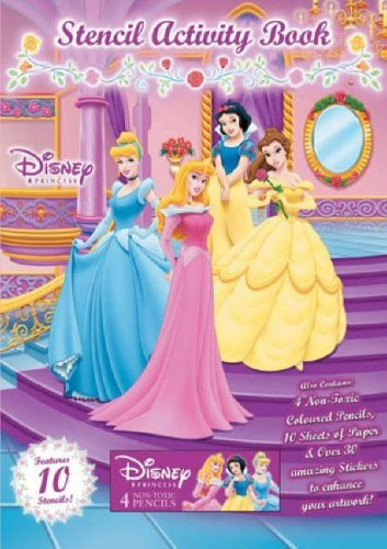 9781741115284: Disney Princess: Stencil and Activity Book
