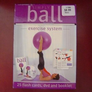 9781741579178: Simply Ball Exercise System Box Set: 25 Flash Cards, DVD, and Booklet.