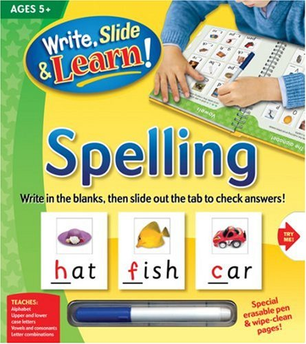 9781741815580: Spelling [With Erasable Pen] (Write, Slide & Learn)